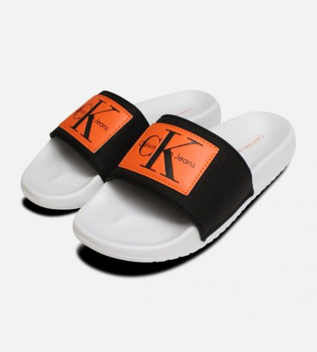 Orange Calvin Klein Ladies Chloe Nylon Sliders