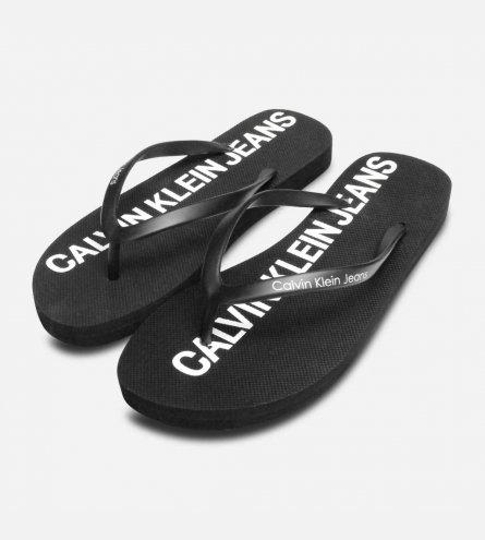 Calvin Klein Womens Designer Dori Flip Flop Sandals in Black