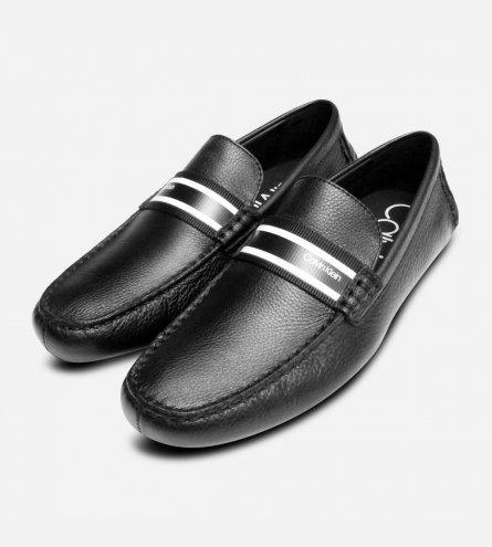 Calvin Klein Black Mens Kashton Driving Shoe Moccasins