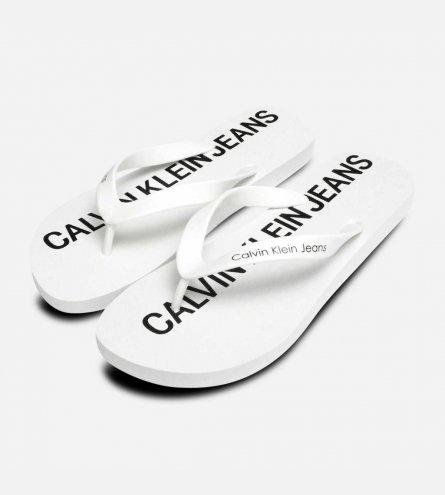 Calvin Klein Mens Errol Flip Flops in Bright White