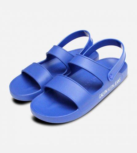 72a412b84d40 Calvin Klein Designer Rubber Sandals in Nautical Patton Blue