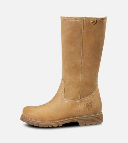 Panama Jack Ladies Bambina Waxy Camel Boots