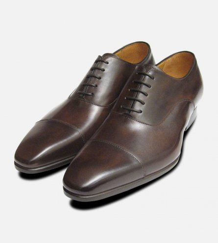 Riviera by Carlos Santos Mens Shoes in Brown Espresso