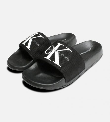 Calvin Klein Womens Chantal Slides in Black