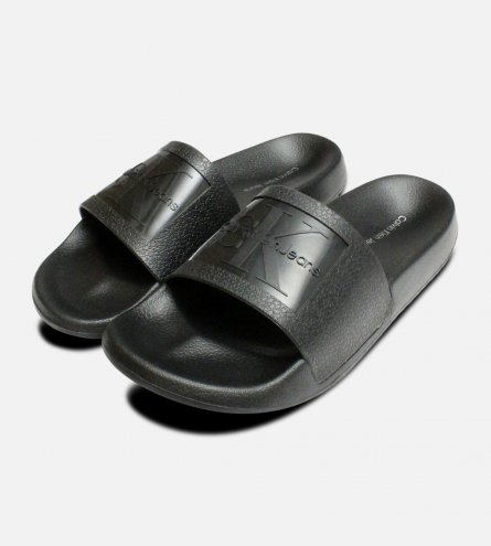 Black Jelly Calvin Klein Sandals Christie Pool Slides