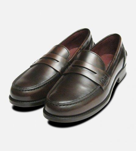 Dark Brown Polished Designer Ladies Italian College Shoes