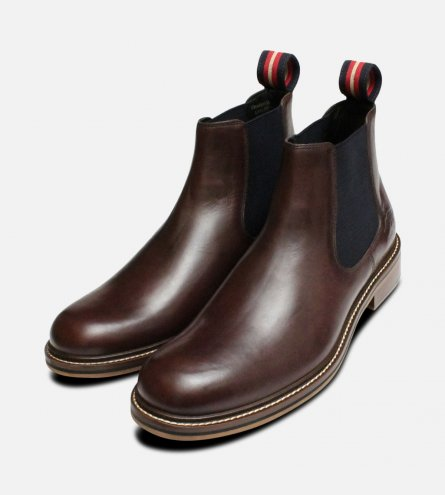 Thomas Partridge Brown Mens Cranwell Chelsea Boots