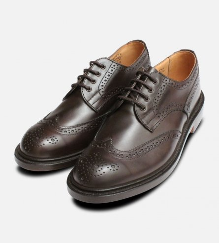 Trickers Anne in Dark Brown Ladies Brogue Shoes