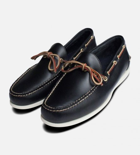 Dark Navy Blue Waxy Bass Boat Shoes