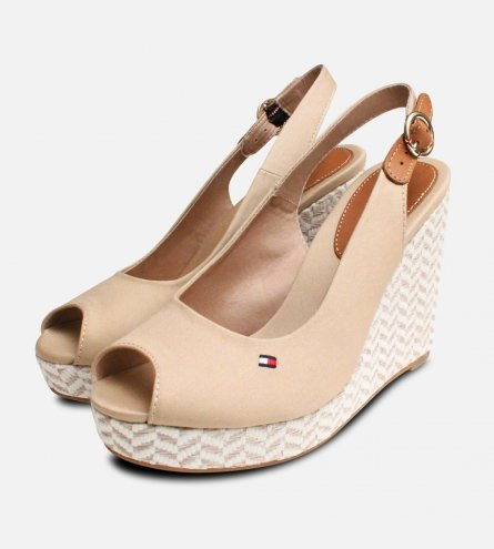 Tommy Hilfiger Elena Platform Sand Wedge Sandals