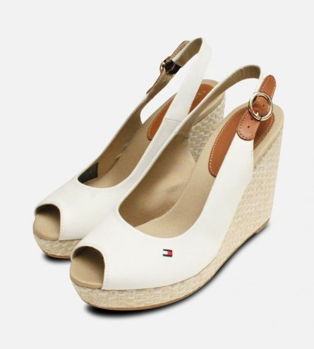 Tommy Hilfiger Elena Platform Sandals in Whisper White