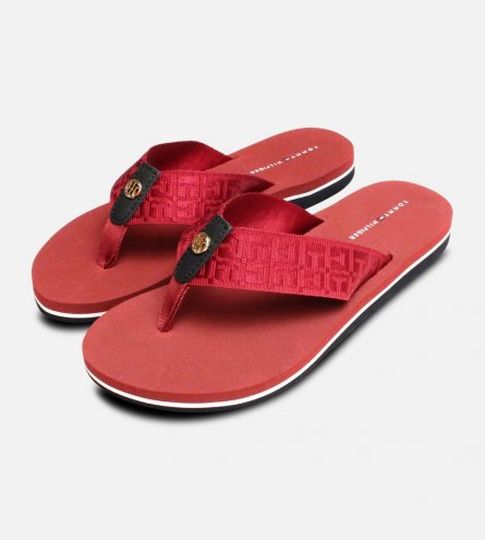 Tommy Hilfiger Burgundy Red Mellie Flip Flop Sandals