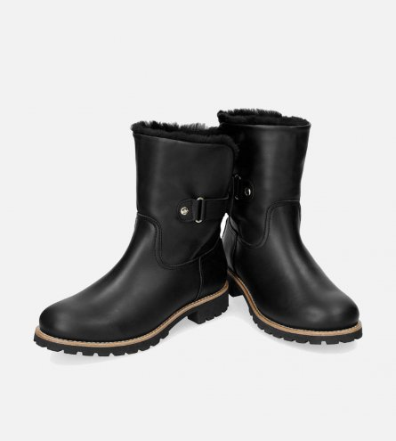 a0d60bca52e905 Luxury Black Panama Jack Felia Boots with Fur Lining