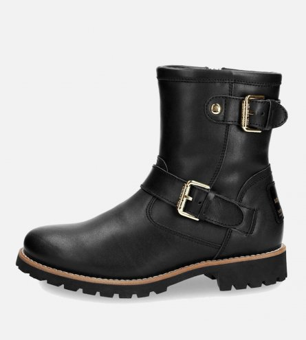 New Panama Jack Black Felina B3 Igloo Buckle Boot