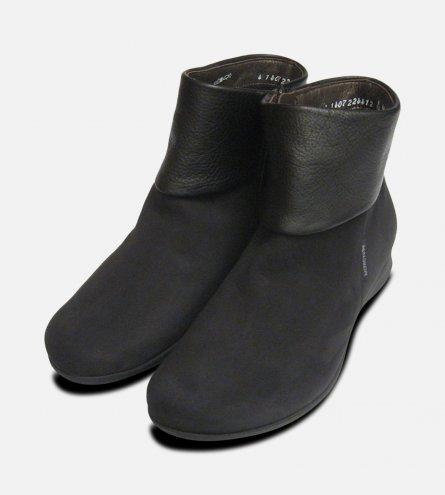Mephisto Ladies Fiducia Black Nubuck Zip Boots