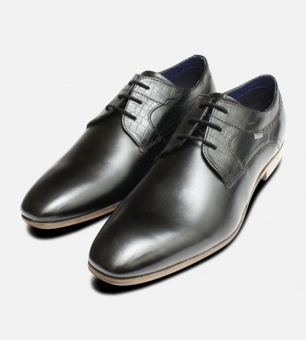Formal Black Leather Dress Shoes by Bugatti