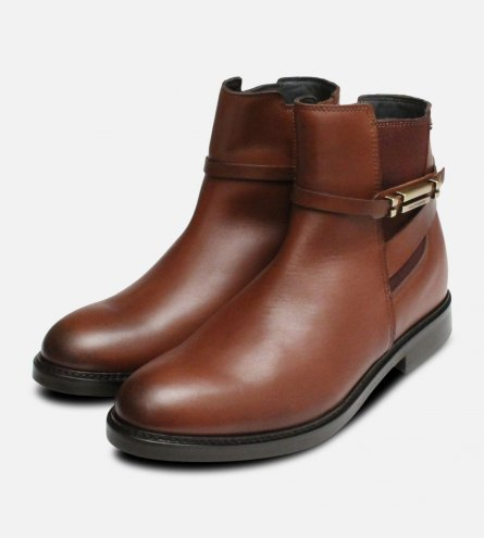 Waterproof Tommy Hilfiger Brown Holly Chelsea Boots