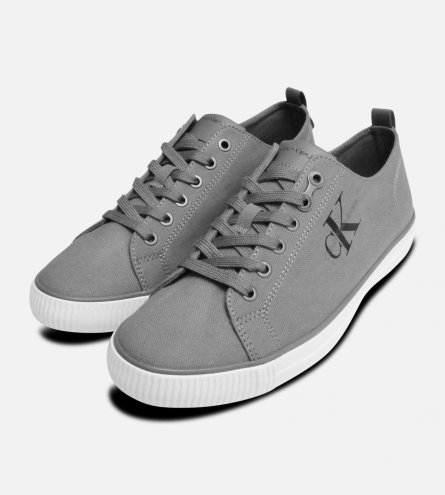 Grey Canvas Calvin Klein Arnold Mens Sneakers