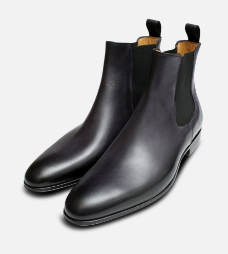Dark Grey Anthracite Mens Chelsea Boots