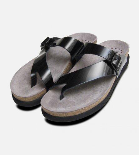 Helen in Black Patent Mephisto Sandals