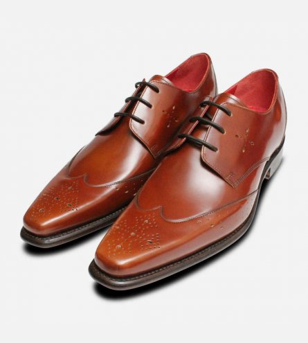 Jeffery West Shoes Formal Brogues in Dark Honey