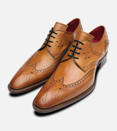 English Cedar Leather Jeffery West Premium Brogues