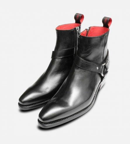 Jeffery West Premium Jailbreak Cuban Heel Zip Boots in Black