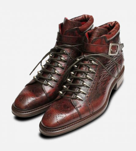 Jeffery West Mens Urban Trekker Dark Brown Boots