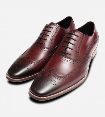 Premium Oxford Brogues in Oxblood by John White Shoes
