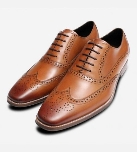 Premium Oxford Brogues in Tan by John White Shoes