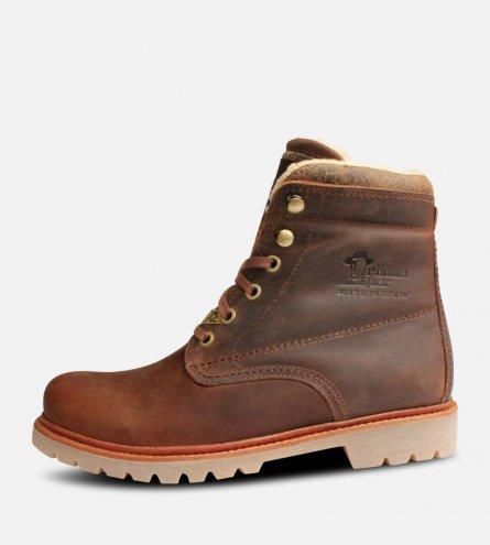 Ladies Panama Jack Aviator Bark Brown Boots