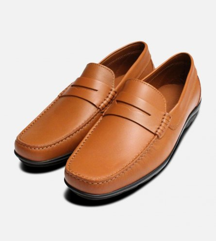 Luxury Tan Brown Italian Moccasins by Arthur Knight Shoes
