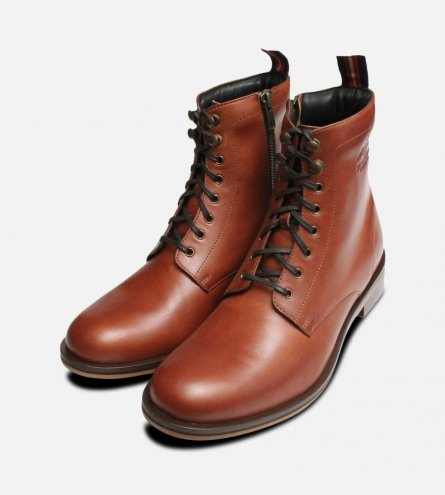 Thomas Partridge Mens Sergeant Boots in Chestnut