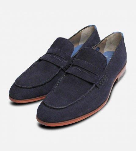 Oliver Sweeney Longbridge 2 Navy Blue Suede Loafer Shoes
