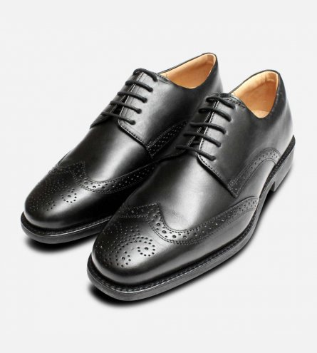 Formal Black Comfort Manaus Brogues by Anatomic Shoes