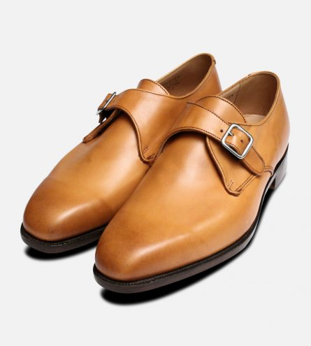 Mayfair Burnished Tan Trickers Monk Shoe