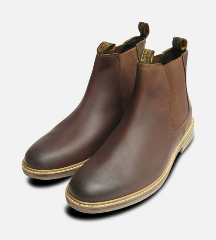 Barbour Farsley Waxy Tan Chelsea Boots