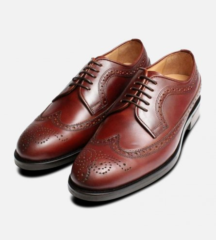 Rich Brown Longwing Brogues by John White Shoes