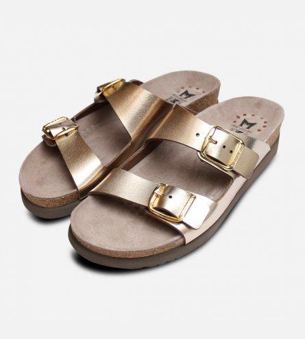 Mephisto Harmony Sandals in Metallic Platinum