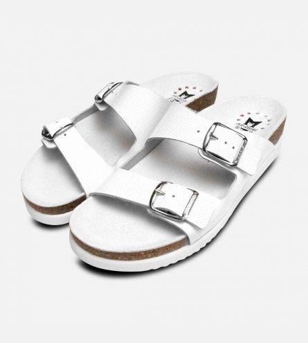 Mephisto Harmony Perforated White Patent Santals