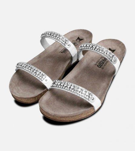 White Crystal Patent Ivana Mephisto Sandals