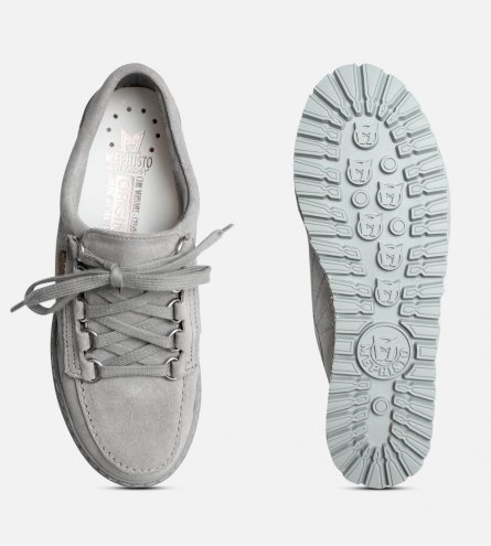 77a5f2110775b Lady by Mephisto Shoes in Light Grey Suede Leather
