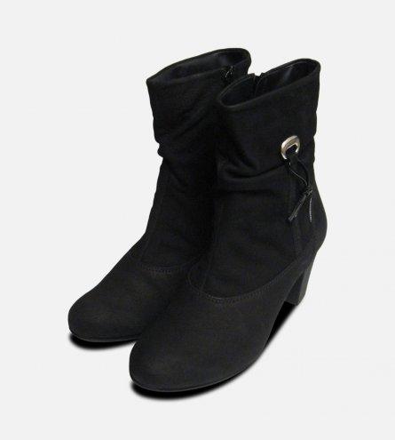 Mephisto Ulcie Black Nubuck Lades Boots