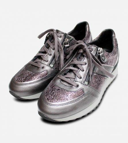 ba6d99b5 Mephisto Toscana II Lace & Zip Sneakers in Graphite Grey