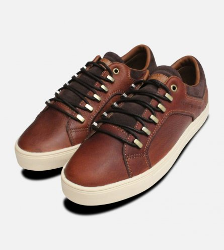 Cognac Brown Tommy Hilfiger Designer Moon Trainers