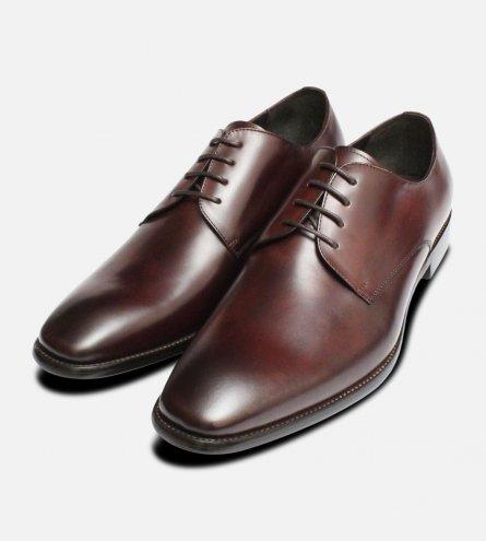 Formal Dark Brown Mens John White Shoes