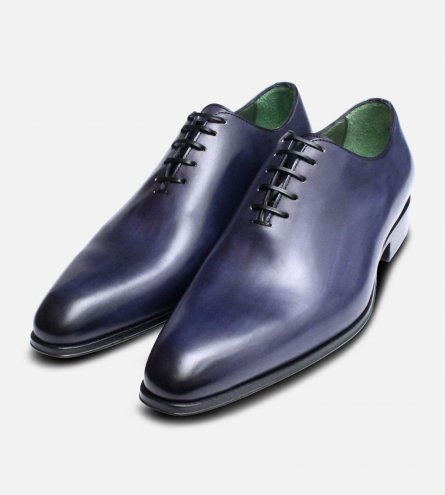 Navy Blue Mens Wholecut Oxfords