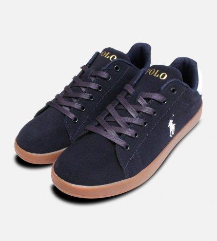 Navy Suede Ralph Lauren Polo Kids Quincey Shoes