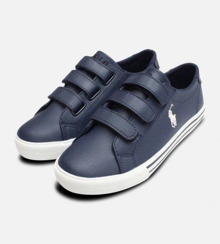 Navy Blue Ralph Lauren Slater EZ Childrens Shoes