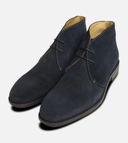 Navy Blue Suede Westbury 3 Chukka Boots